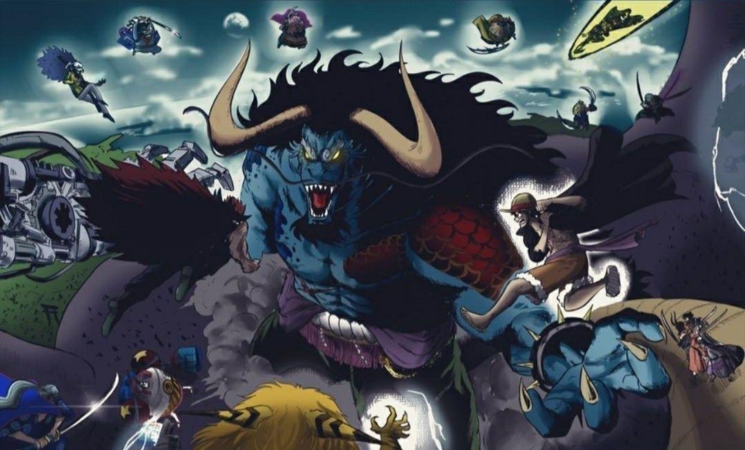 One Piece Manga Chapter 1004: Kaido's Hybrid Transformation