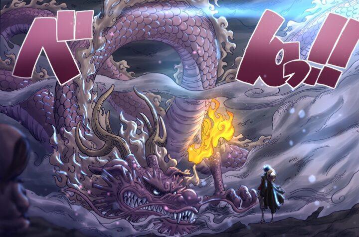 One Piece Manga Chapter 1025: Luffy & Momonosuke Attack Kaido